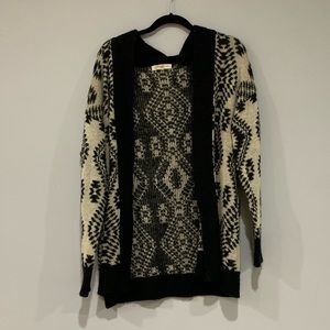 Patterned Aztec Cardigan